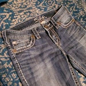 Silver aiko bootcut jeans 27/31